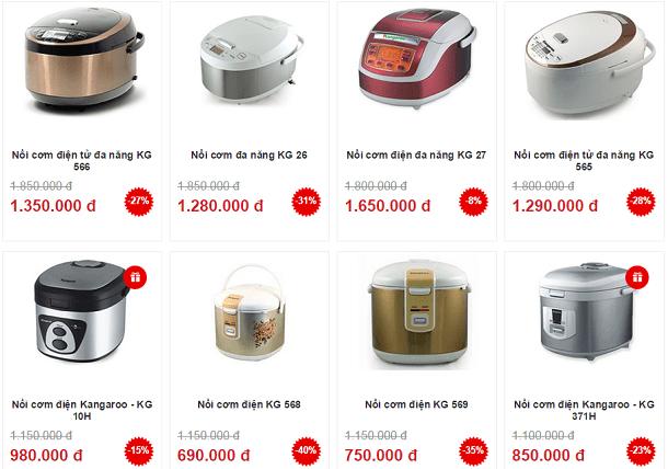 Chọn mua nồi cơm điện theo giá tiền