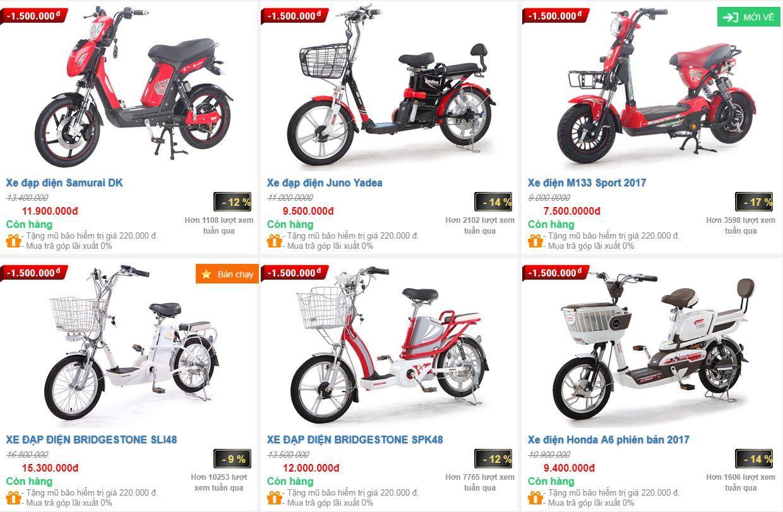 giá xe đạp điện